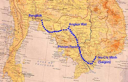 Bangkok to Saigon Cycle Challenge_B2S_route-map