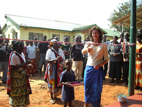 Jane opening the maternity clinic at Mukuni funded by The Butterfly Tree. Photo: The Butterfly Tree