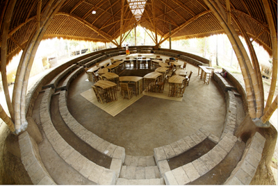 Green School, Bali. Mepantigan Center, welcome to the wonderful world of Bamboo.