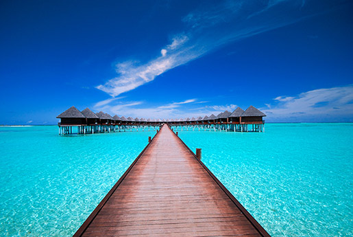 The Maldives' country brand has been built primarily on the back of images of secluded tropical like this resort.