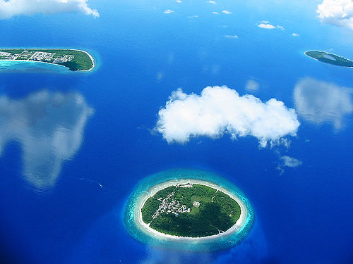 The Maldives capitalizes heavily on its main natural resource, its bewildering collection of pristine tropical isles.