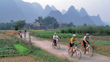Mountain biking in China. Photo: Backroads