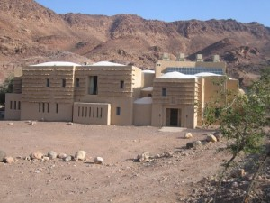 The solar-powered Feynan Eco Lodge, Jordan