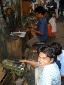 Jakarta's slums are abuzz with economic activity. Photo: Jakarta Hidden Tour