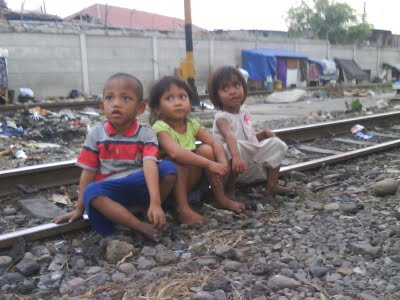 Children in Jakarta's slum area. Photo: Interkultur Foundation