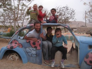 Lotan's Green Apprenticeship Program-ISRAEL-Ori with Kids in Eco Kef.JPG