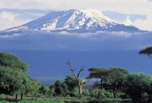 The majestic peak of Mt. Kilimanjaro, Tanzania