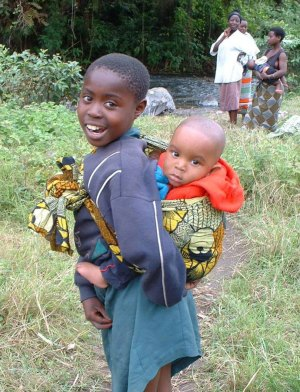 Two very healthy children enjoying life in Tanzania. Photo: USAID